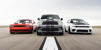 Dodge//SRT Performance Lineup: 2020 Challenger SRT Super Stock, 2021 Durango SRT Hellcat, 2021 Charger SRT Hellcat Redeye