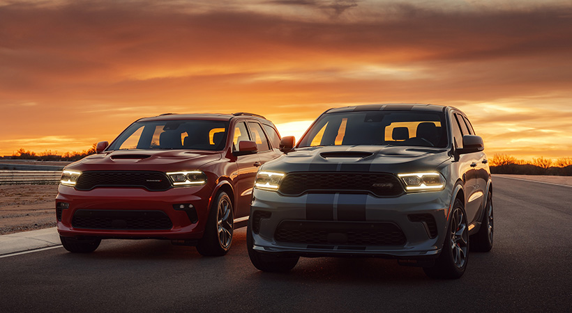 2021 Dodge Durango R/T Tow N Go (left) and Durango SRT Hellcat (