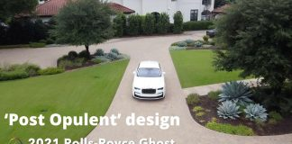 2021 Rolls-Royce Ghost 1st. look on the road around Austin, Texas