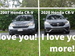 Real life Test Drive: 2007 Honda CR-V vs 2020 Honda CR-V ... no contest!