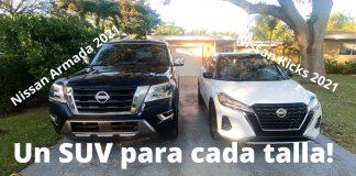 Nissan Armada 2021 - Nissan Kicks 2021 - SUV Extra Large y SUV Extra Small