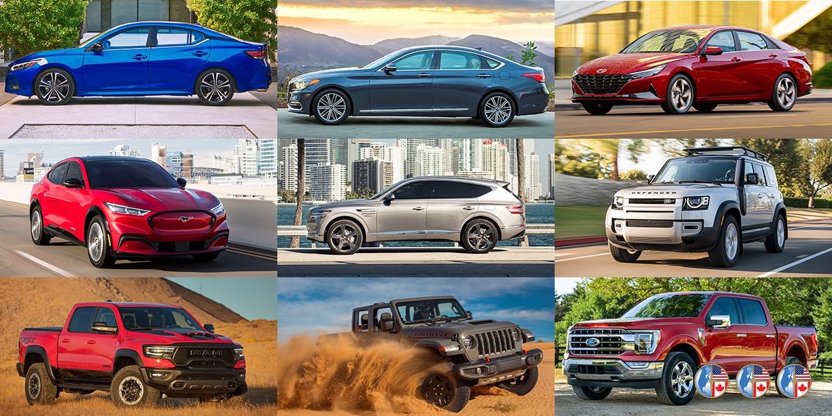 Finalistas a los Premios NACTOY 2021 al Auto, Camioneta y Vehículo Utilitario