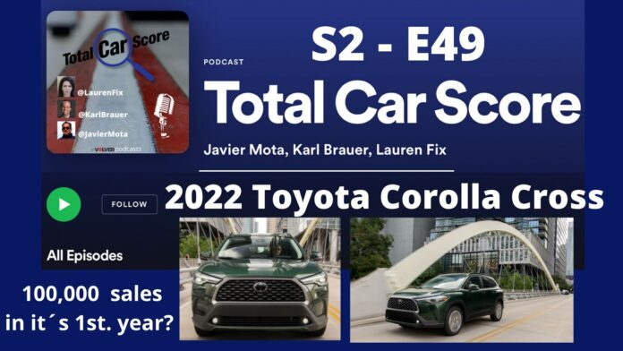 TCS S2-E49 - Toyota is confidente it will sell 100,000 Corolla Cross SUVs in its 1st. year of production